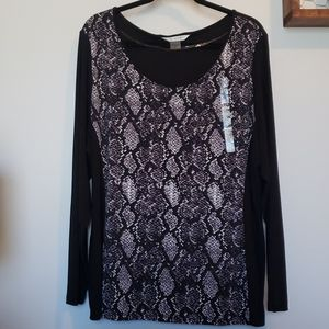 NEW Peter Nygard snake skin blouse